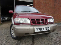01 KIA SPORTAGE 2.0 4X4,MOT OCT 017,PART HISTORY,LOADS OF INVOICES,VERY WELL MAINTAINED,RELIABLE 4X4