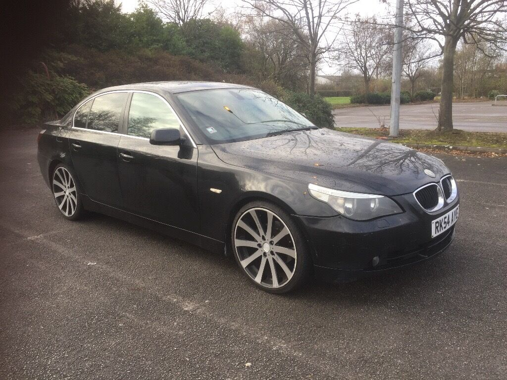 "Bmw 525d, AUTOMATIC, black leather, 20"" alloy wheels"