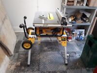 DEWALT DW745 TABLE SAW + DE7400 XJ STAND