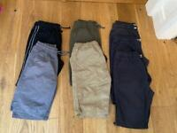 Summer shorts job-lot boys 13-14years
