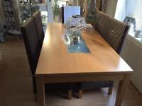Dining Table with glass centre