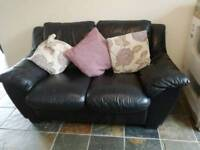 MUST GO Leather suite 2 seater and recliner