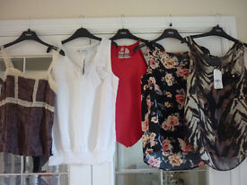 Bundle of 5 Vest Tops - Size 6 Petite, Size 6 and 8