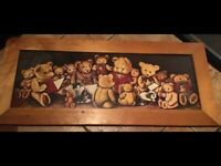 LARGE TEDDY BEAR PAINTING