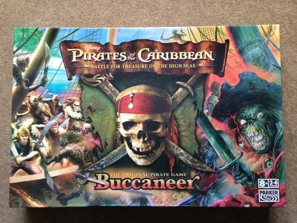 Pirates of the Caribbean Buccaneer Board Game - Complete and in excellent condition.
