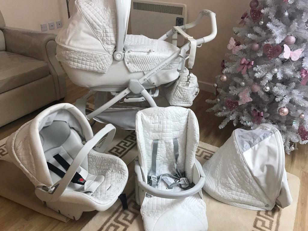 08cad795d592 White Young Versace pram essex   in Stanway, Essex   Gumtree