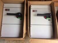 2 off 100 amp Wylex TP&N switch fuse HNTP SF 100 boxed