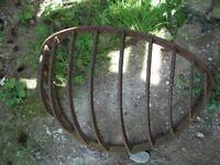 Vintage Cast Iron Horse Hay Rack