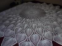 Table cloth hand crocheted
