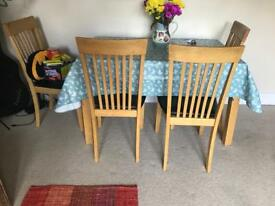 Sofa Set and Dining Table with 4 chairs