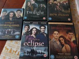 All 5 twilight dvds set