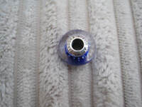 GENUINE Pandora Royal Blue Fizzle Murano Charm in Sterling Silver
