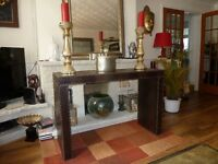 Classic console table from Kare design, faux leather crocodile effect. Fabulous!