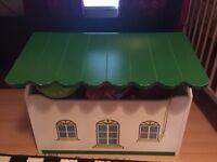 wood toy storge box