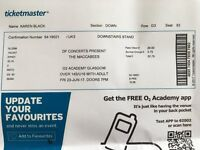 2 x The Maccabees Standing Tickets (Glasgow Academy 23 June)