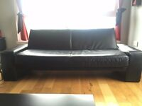Sofa bed Black Faux Leather