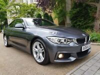 BMW 420d M Sport 2dr Full BMW Service History 1 owner From New, Paddle Shift, Perfect Condition