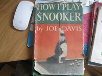 Three classic snooker books by the legendary master Joe Davis