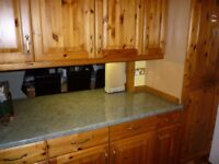solid pine kitchen units and appliances for sale.