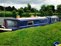 Beautiful Blue Breakaway 6 42ft Narrowboat Canalboat liveaboard holiday home cruiser