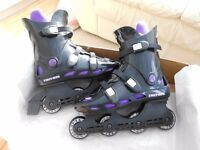 Triton In Line Skates Roller Blades Size 6 Good Condition with original box and instructions