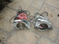 Two used circular saws 240w