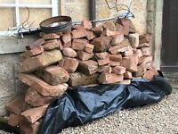 Red sandstone blocks reclaimed around 3 tonnes