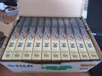 fujifilm super shg 5-30 video cassettes new sealed and boxed x 7 boxes 10 per box
