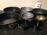 Cake Tins (various sizes £ each)