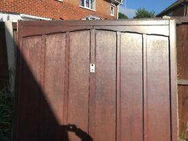 x2 Garador wooden garage doors