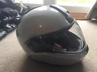 BMW motorcycle helmet grey 58-59 System 6