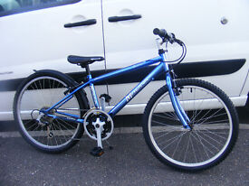 "24"" WHEEL METALLIC BLUE 24"" WHEEL BIKE IN GREAT WORKING ORDER AGE 8+"