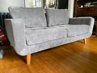 Grey 3 Seater Sofa - like new