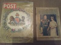 Royal family souvenirs 1953 and 1937