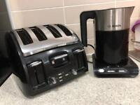 tefal toaster and Bosch kettle