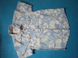 Boys Mantaray Hawaiian Shirt Age 10 IP1