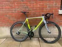 Stunning hand made Italian Carbon road bike with SRAM red