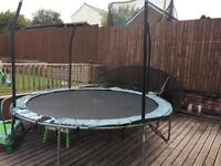 Trampoline 10 ft - Free to collect. Asda JunpKing. Net broke and spring cover worn