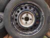 Vw steel wheels off a Mk2 golf