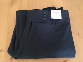 Ladies Black Trousers - petite size 10 new with tags