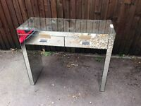 Next mirrored side dressing table
