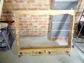 Gorgeous wooden wall mounted dresser
