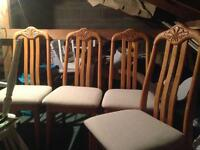 X4 hard would dining chairs