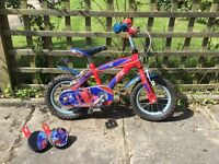 "Spider-Man kids bike 12"" With Stabilisers"