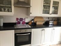 Fully fitted white kitchen with all appliances