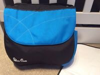 Silver cross changing bag in blue