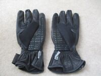 Buffalo Leather Keprotec Schoeller Motorcycle Gloves Size 10 large