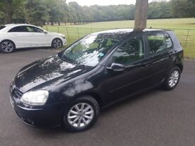 Vw golf 2008 1.9 tdi match 5 door black