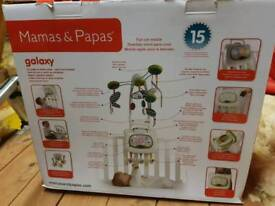 Mamas and Papas Galaxy mobile cot mobile baby