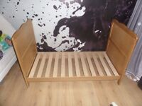 Cot Bed/Junior Bed with cot top changer - Country Pine